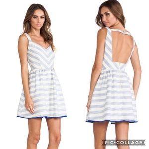 NWT Line & Dot Blue White Striped Knit Dress Small